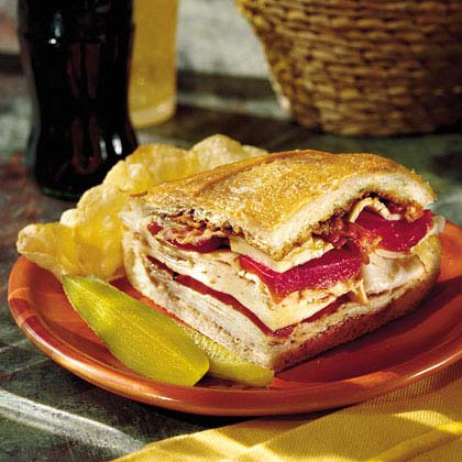 Turkey, Bacon, and Havarti Sandwich Recipe