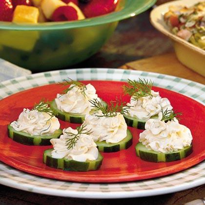 Cucumber-Dill RoundsRecipe