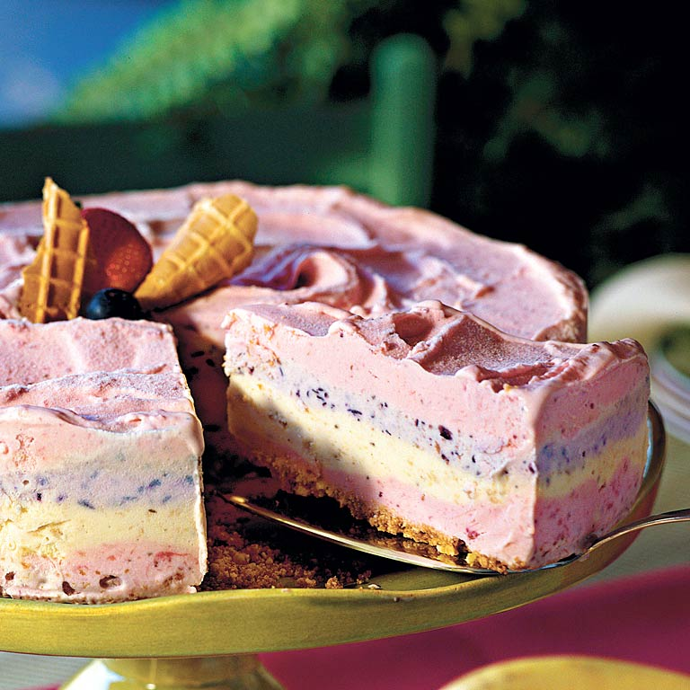 Strawberry Smoothie Ice-Cream PieRecipe