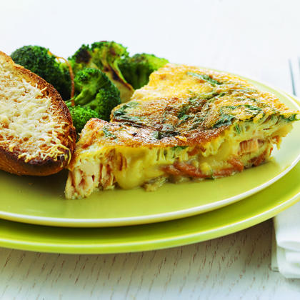 Salmon and Sweet-Potato Frittata