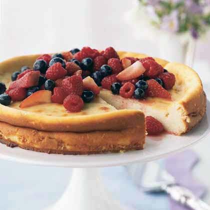 Ricotta Cheesecake with Fresh Berry Topping Recipe