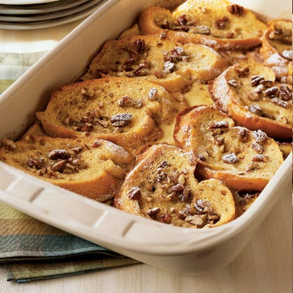 Strawberry-Filled French Toast with Caramel and Pecans Recipe