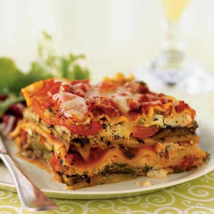 Grilled Vegetable Lasagna Recipe | MyRecipes.com