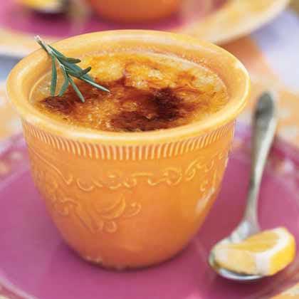 Meyer Lemon and Rosemary Brûlées Recipe