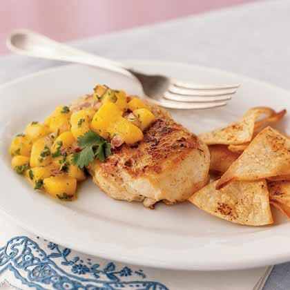 <p>Jamaican Chicken with Mango Salsa</p>