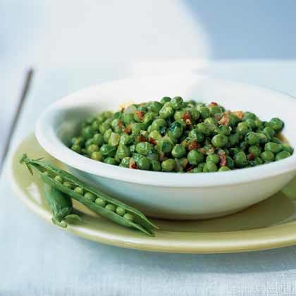 Spring Peas with Pancetta