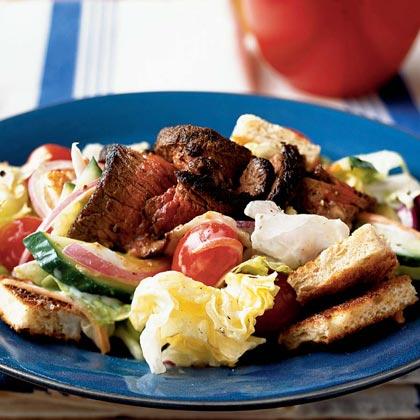 Steak Salad with Creamy Ranch Dressing