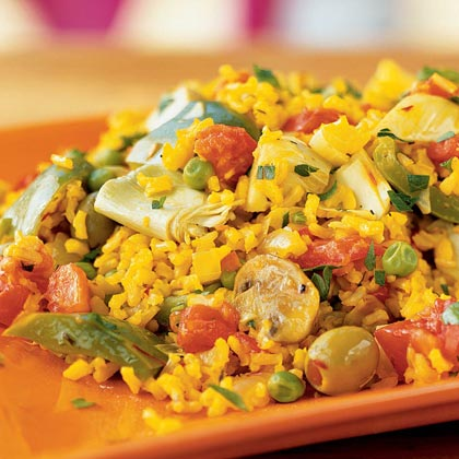 Quick vegetarian paella recipe myrecipes quick vegetarian paella forumfinder Choice Image