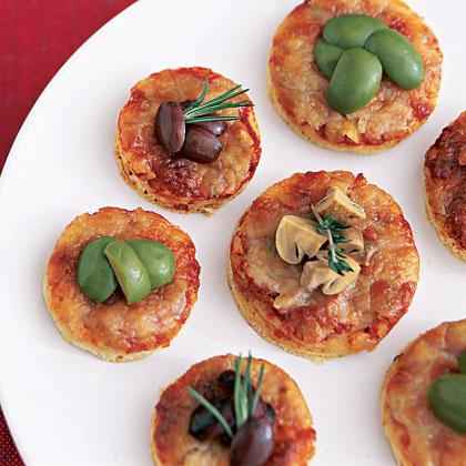 Greek Pita Pizzas Recipe | MyRecipes.com