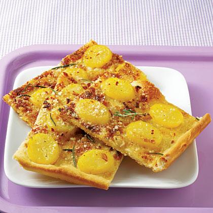 Spring Potato Pizza