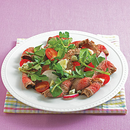 Flank Steak and Watercress Salad