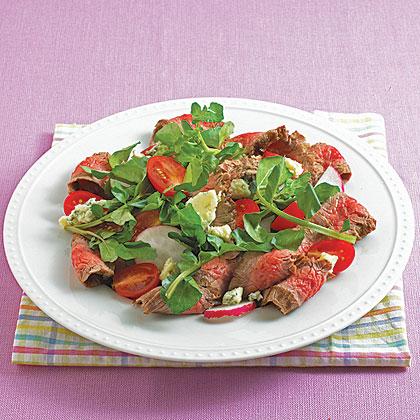Flank Steak and Watercress Salad