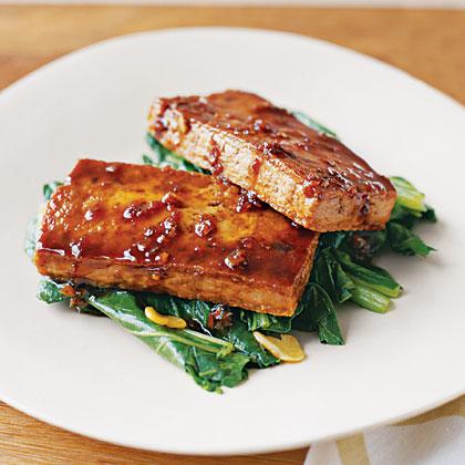 Glazed Tofu with Bok Choy