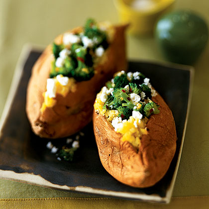 stuffed-sweet-potato-broccoli Recipe