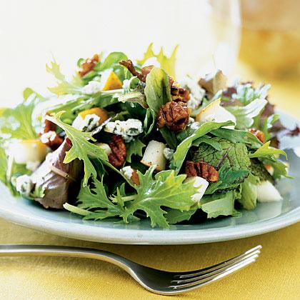 greens-pears-pecans Recipe