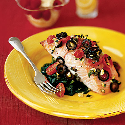 Mediterranean Salmon Recipe | MyRecipes.com