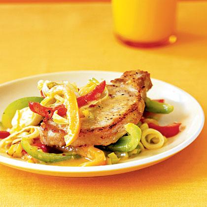 orange-pork-leeks