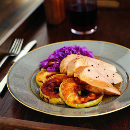 Glazed Pork Tenderloin with Sugared ApplesRecipe