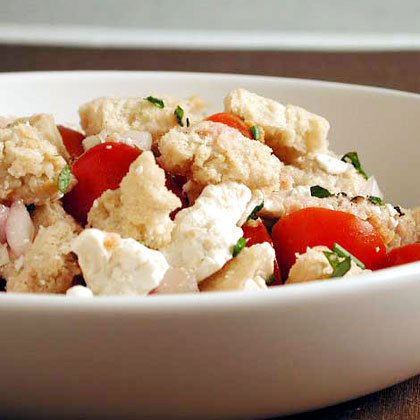 Bread Salad with Tomatoes, Herbs, and Ricotta Salata