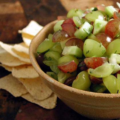 Grape and Cucumber Salsa
