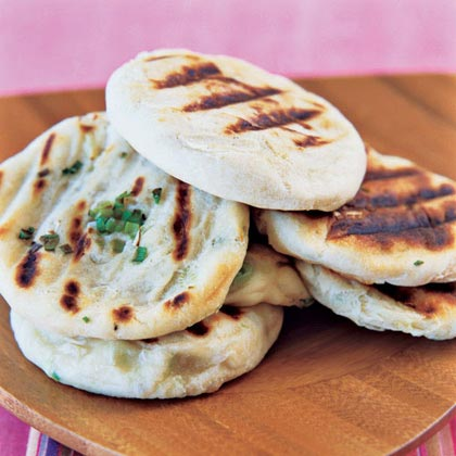 Grilled Green-Onion Breads
