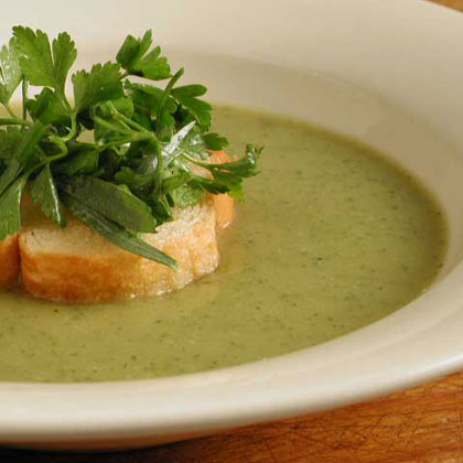 Creamy Zucchini Soup with Mixed Herbs