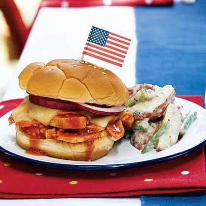 Honey-Chipotle Barbecue Chicken Sandwiches
