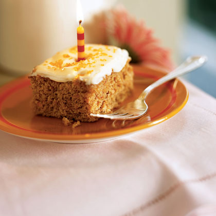 Carrot Sheet Cake with Cream Cheese FrostingRecipe