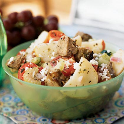 Greek Lamb and Potato Salad
