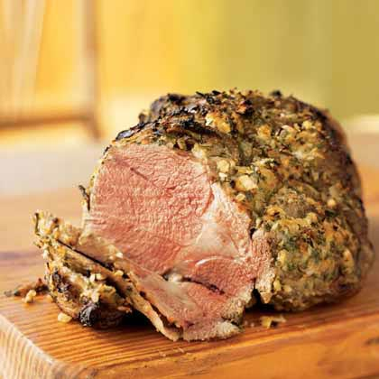 Simple Roasted Leg of Lamb