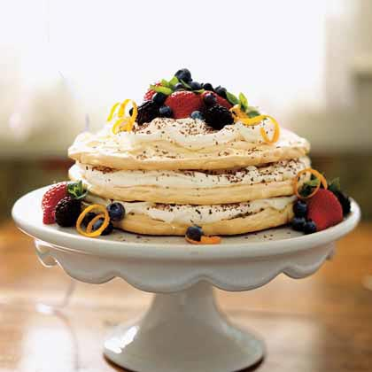 Grand Marnier Meringue Torte