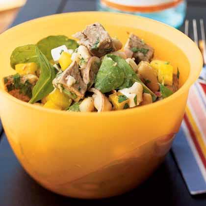Roast Lamb and White Bean Salad