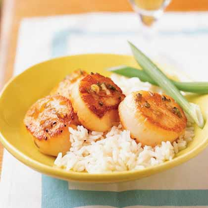 Gingered Scallops Recipe