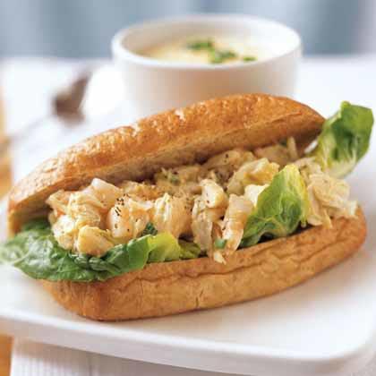 Shrimp and Crab Salad Rolls