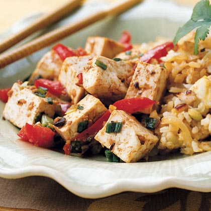 Tofu with Red Peppers and Black Bean Paste Recipe