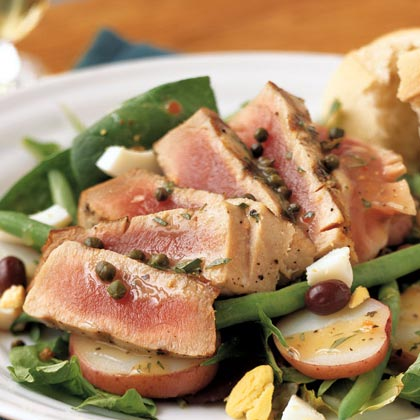 Grilled Tuna Niçoise Salad Recipe | MyRecipes.com