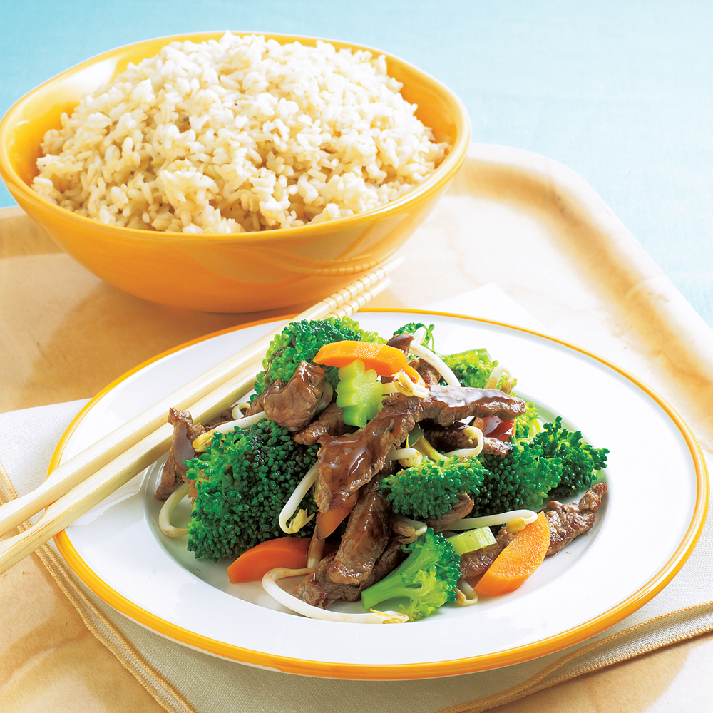 Beef and broccoli stir fry recipe myrecipes beef and broccoli stir fry forumfinder Image collections