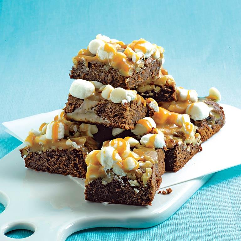 Caramel-Marshmallow Brownies