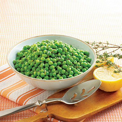 Peas with Lemon and Thyme Recipe