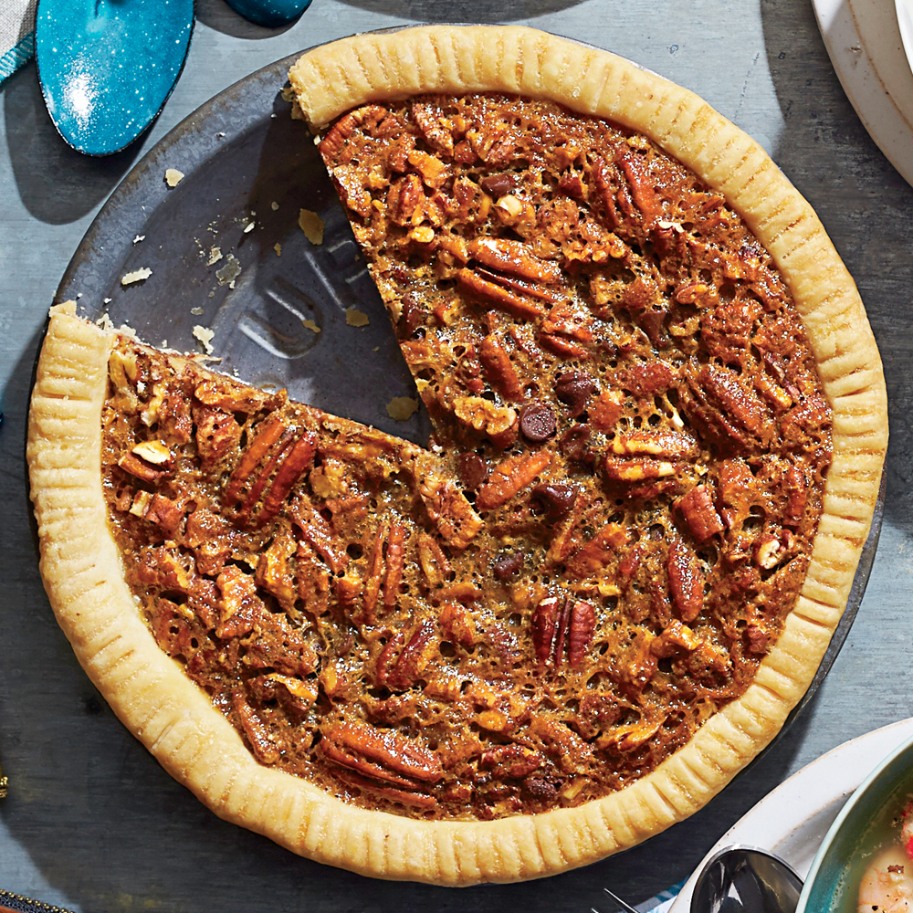 Chocolate-Bourbon Pecan PieRecipe