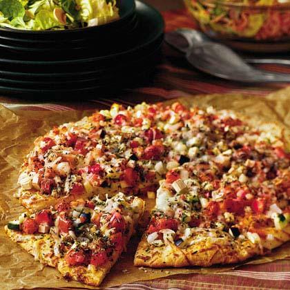Garden eggplant pizza recipe myrecipes - Olive garden westminster maryland ...
