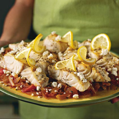 Broiled Mahi-Mahi With Parsleyed Tomatoes Recipe
