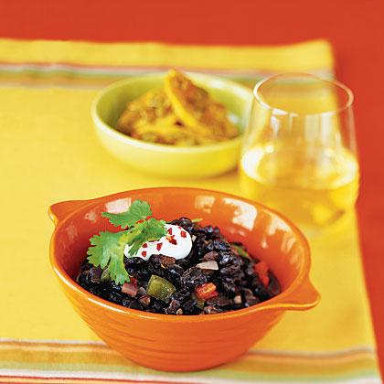 Cumin-Scented Black Beans With Cilantro
