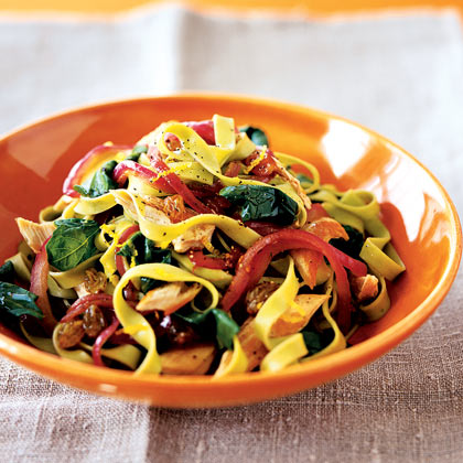 Lemony Pasta With Chicken and Spinach Recipe