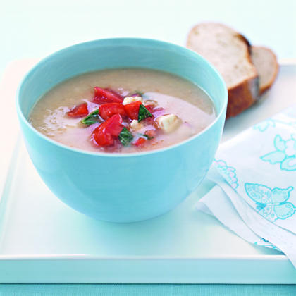 White Bean Soup with Tomato Salsa Recipe