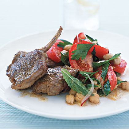 Spiced Lamb Chops with Chickpea Salad