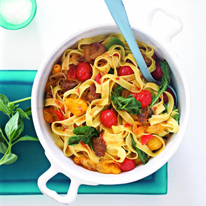 Recipes for pasta and sausage