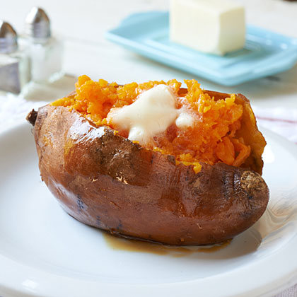 Loaded baked sweet potatoes   Plain Baked Sweet Potato