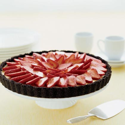 Mascarpone Tart with Strawberries Recipe | MyRecipes.com