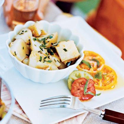 Garlic Smashed-Potato Salad